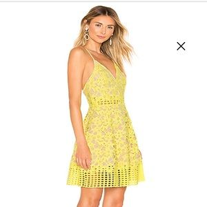 Yellow Lace Dress Lover and Friends